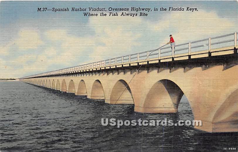 Spanish Harbor Viaduct - Florida Keys Postcards, Florida FL Postcard