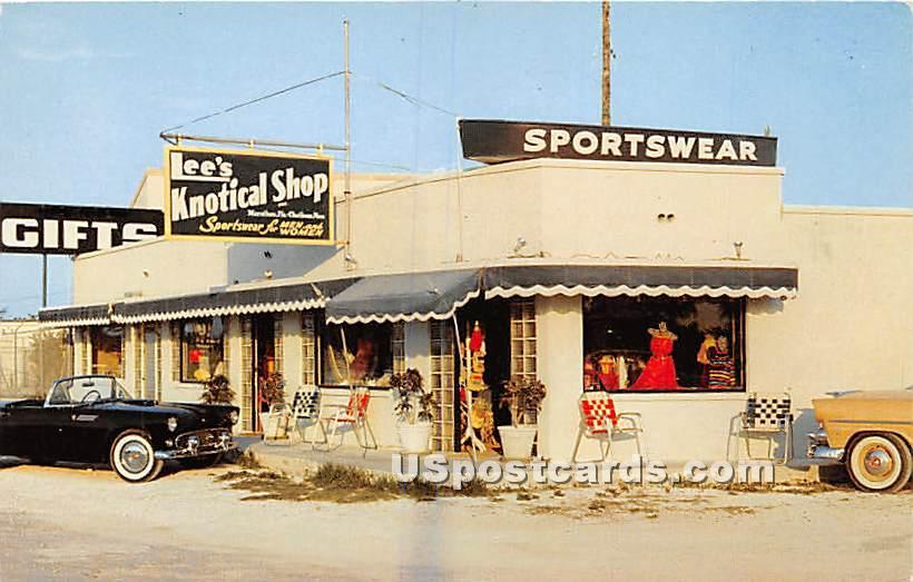 Lee's Knotical Shop - Florida Keys Postcards, Florida FL Postcard