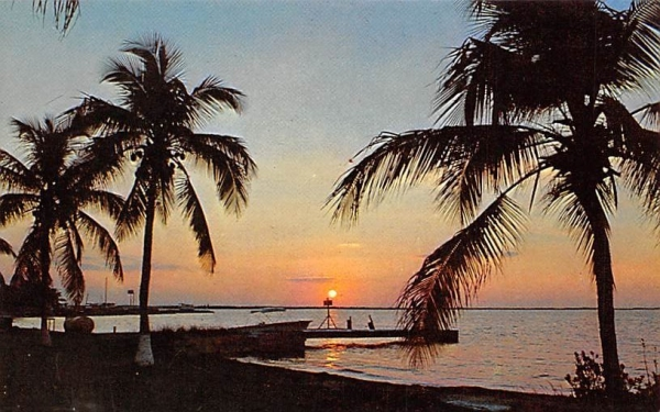 Tropical sunset across Blackwater Sound Florida Keys Postcards, Florida