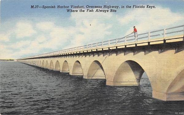 Spanish Harbor Viaduct Florida Keys Postcards, Florida