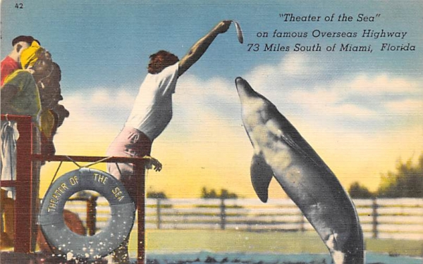 Theater of the Sea on famous Overseas Highway Florida Keys Postcards, Florida