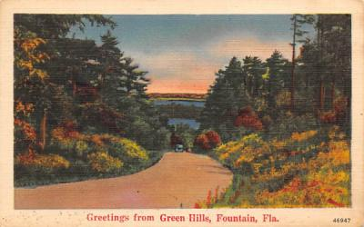 Greetings from Green Hills Fountain, Florida Postcard