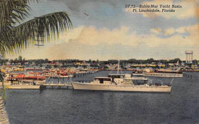 Bahia-May Yacht Basin Fort Lauderdale, Florida Postcard