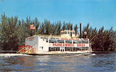 The Paddlewheel Queen Fort Lauderdale, Florida Postcard