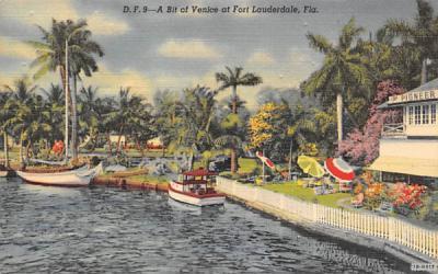 A Bit of Venice Fort Lauderdale, Florida Postcard