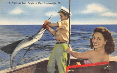 A Fair Catch  Fort Lauderdale, Florida Postcard