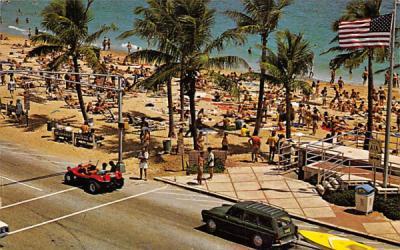 Las Olas Boulevard and The Atlantic Fort Lauderdale, Florida Postcard