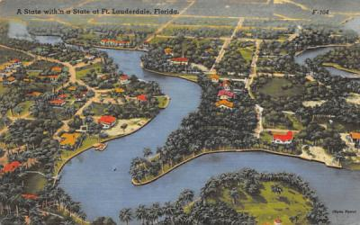 A State within a State Fort Lauderdale, Florida Postcard