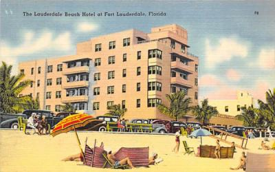 The Lauderdale Beach Hotel Fort Lauderdale, Florida Postcard
