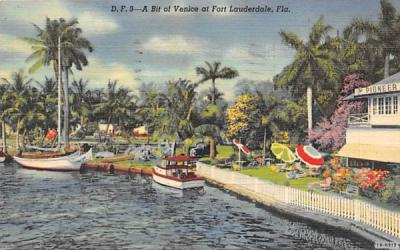 A Bit of Venice at Fort Lauderdale, FL, USA Florida Postcard