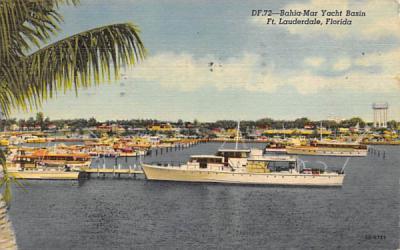 Bahia-Mar Yacht Basin Fort Lauderdale, Florida Postcard