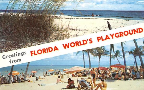 Greetings from Florida World's Playground, USA Postcard