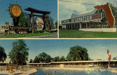 Aloha Motor Lodge - Hilliard, Florida FL Postcard