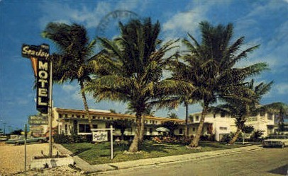 Sea Jay Motel - Hollywood, Florida FL Postcard
