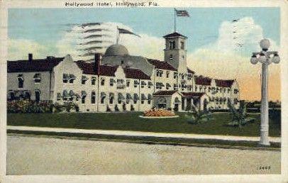 Hollywood Hotel - Florida FL Postcard