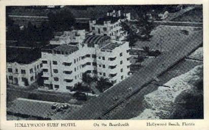 Hollywood Suft Hotel - Florida FL Postcard