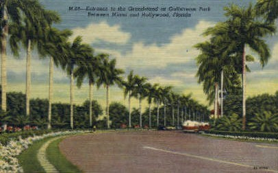 Grandstand - Hollywood, Florida FL Postcard