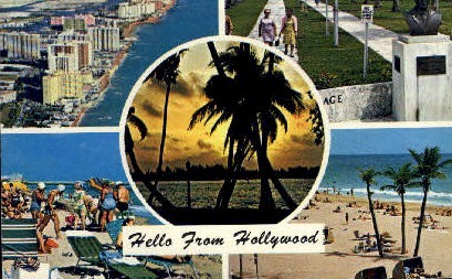Hollywood, Florida, FL Postcard