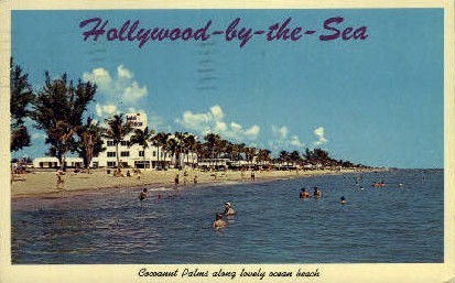 Cocoanut Palms - Hollywood, Florida FL Postcard