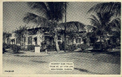 Country Club Villas - Hollywood, Florida FL Postcard