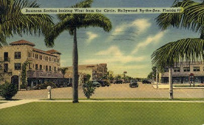 Business Section - Hollywood, Florida FL Postcard
