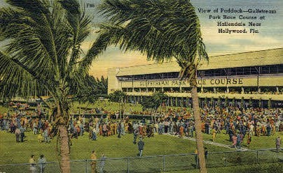 Park Race Course - Hollywood, Florida FL Postcard