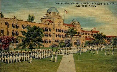 Riverside Military Academy - Hollywood, Florida FL Postcard