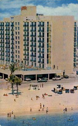 Oceanfront - Hollywood, Florida FL Postcard