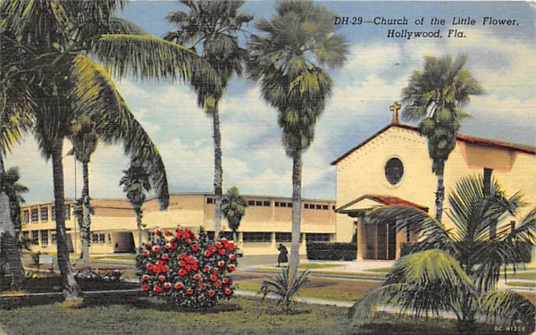 Church of the Little Flower Hollywood , Florida Postcard