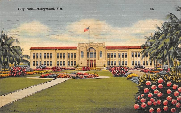City Hall Hollywood, Florida Postcard