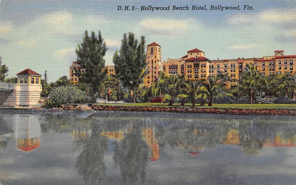 Hollywood Beach Hotel Florida Postcard