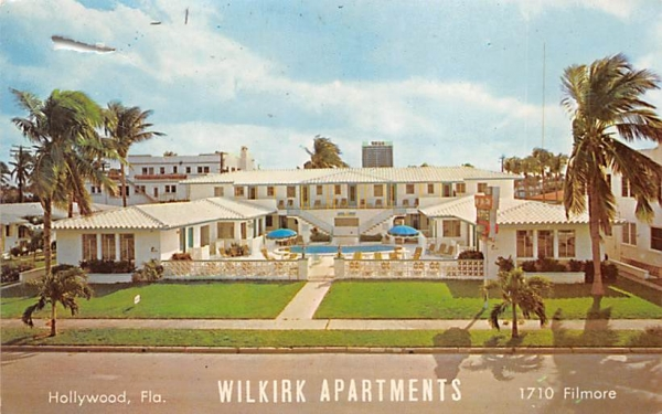 Wilkirk Apartments Hollywood , Florida Postcard