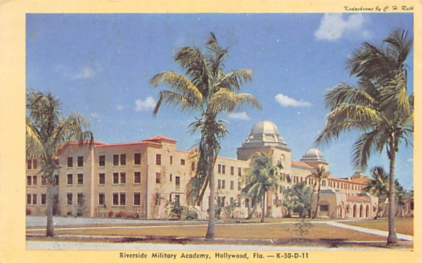 Riverside Military Academy Hollywood, Florida Postcard