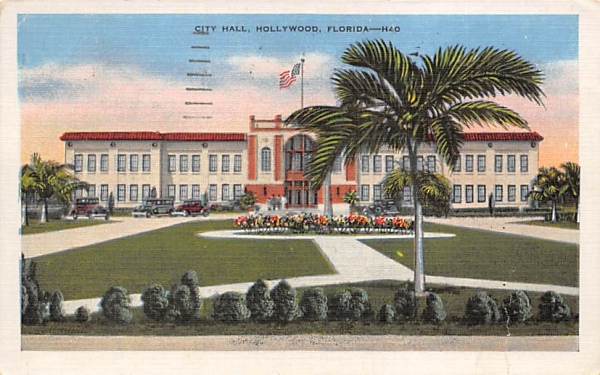 City Hall Hollywood , Florida Postcard