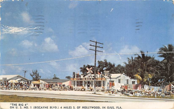 The Big 4 Hollywood, Florida Postcard