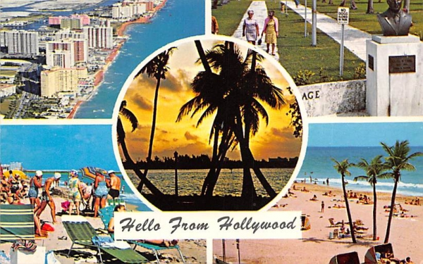 Hello from Hollywood Hollywood , Florida Postcard