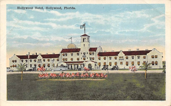 Hollywood Hotel Florida Postcard