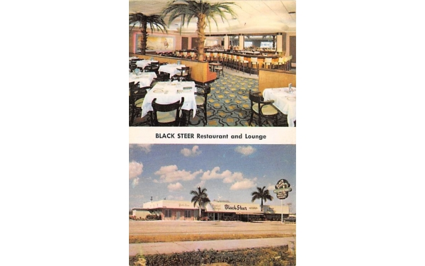 Black Steer Restaurant and Lounge Hollywood, Florida Postcard