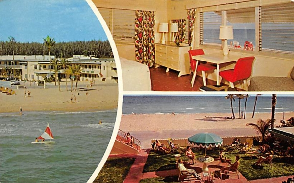 Bel Aire Apartments Hollywood, Florida Postcard