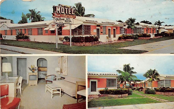 Filson Apartment Motel Hollywood, Florida Postcard