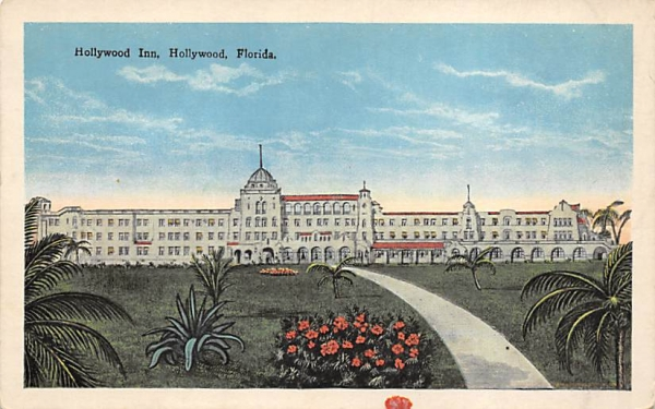 Hollywood Inn Florida Postcard