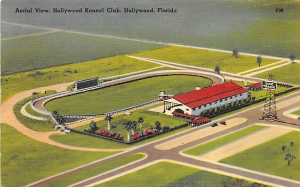 Aerial View, Hollywood Kennel Club Florida Postcard