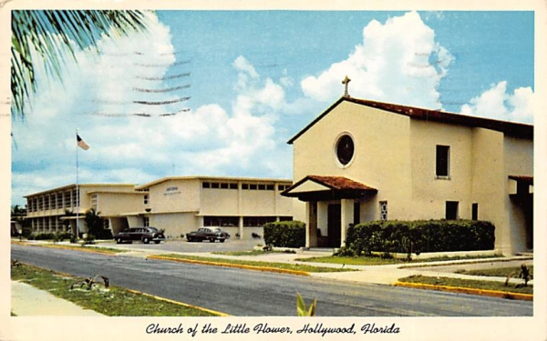 Church of the Little Flower Hollywood, Florida Postcard