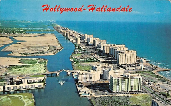 Hollywood-Hallandale, FL, USA Florida Postcard