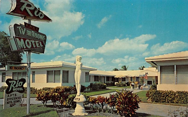 Rio Motel Hollywood , Florida Postcard