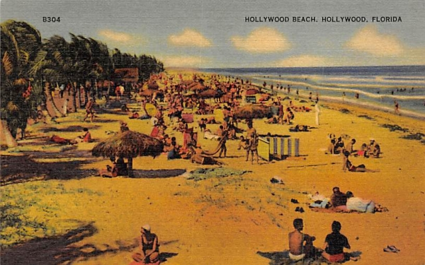 Hollywood Beach  Florida Postcard