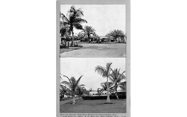 Seville Court Hollywood, Florida Postcard