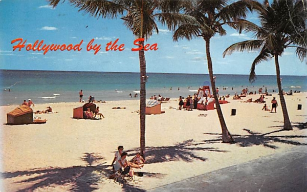 Hollywood Florida's beautiful Beach Postcard