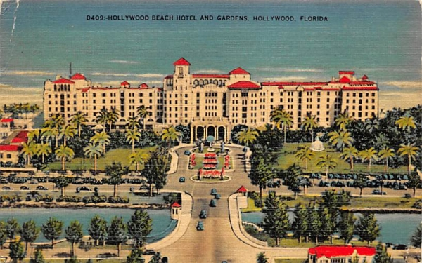 Hollywood Beach Hotel and Gardens Florida Postcard