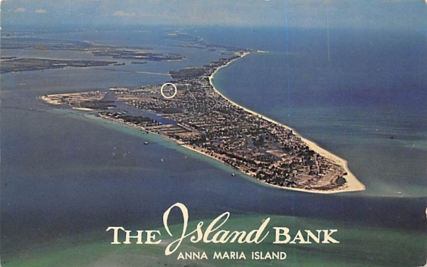 The Island Bank, Anna Maria Island Holmes Beach, Florida Postcard